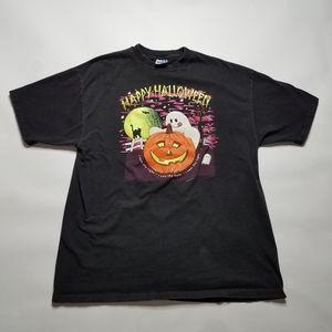 Hanes Beefy-T Pre Shrunk Halloween Ghost AR Shirt